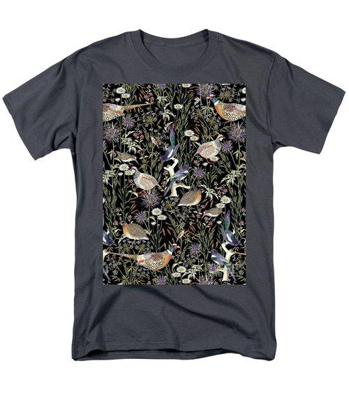 Woodland Edge Birds Men's T-Shirt  (Regular Fit) by Jacqueline Colley