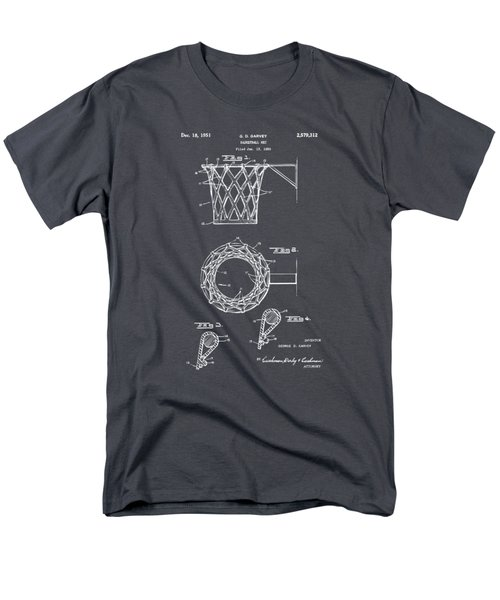 1951 Basketball Net Patent Artwork - Gray Men's T-Shirt  (Regular Fit) by Nikki Marie Smith