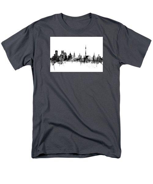 Moscow Russia Skyline Men's T-Shirt  (Regular Fit) by Michael Tompsett