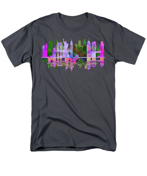 New York Skyline Men's T-Shirt  (Regular Fit) by John Groves