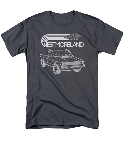 Vw Rabbit Pickup - Westmoreland Theme - Black Men's T-Shirt  (Regular Fit) by Ed Jackson