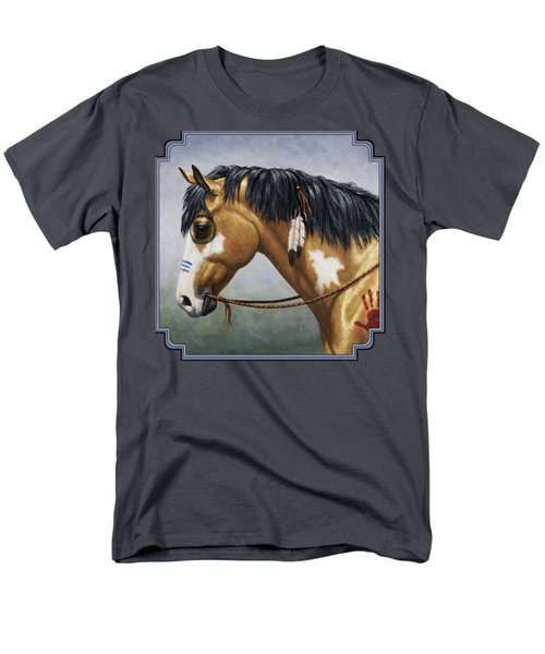 Buckskin Native American War Horse Men's T-Shirt  (Regular Fit) by Crista Forest