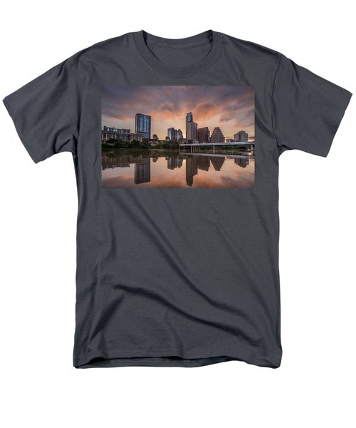 Austin Skyline Sunrise Reflection Men's T-Shirt  (Regular Fit) by Todd Aaron
