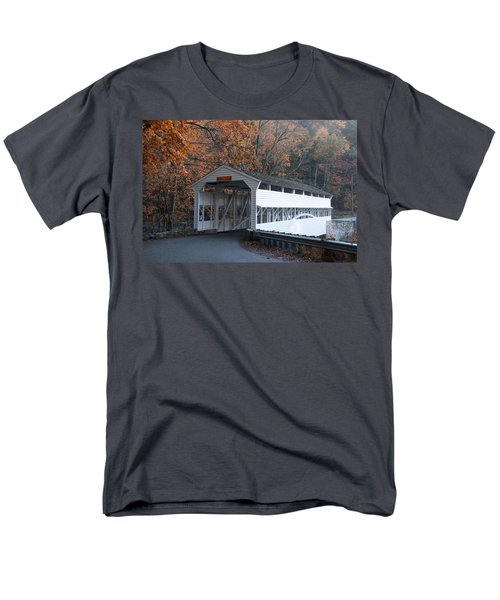 Autumn at Knox Covered Bridge in Valley Forge T-Shirt by Bill Cannon