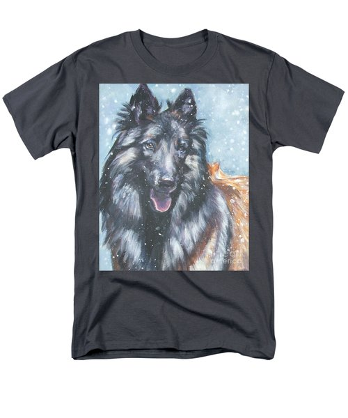 Belgian Tervuren in snow T-Shirt by Lee Ann Shepard