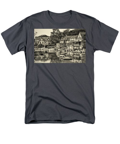 Boathouse Row in Sepia T-Shirt by Bill Cannon