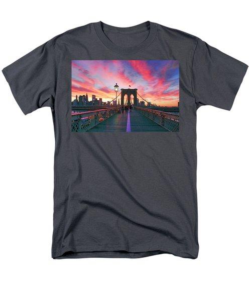 Brooklyn Sunset Men's T-Shirt  (Regular Fit) by Rick Berk