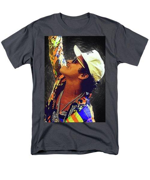 Bruno Mars Men's T-Shirt  (Regular Fit) by Semih Yurdabak