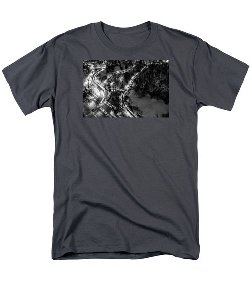 Men's T-Shirt  (Regular Fit) featuring the photograph Central Park Trails by M G Whittingham