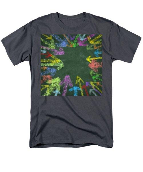 chalk drawing colorful arrows T-Shirt by Setsiri Silapasuwanchai