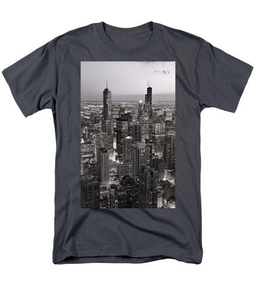 Chicago Loop Sundown B and W T-Shirt by Steve Gadomski