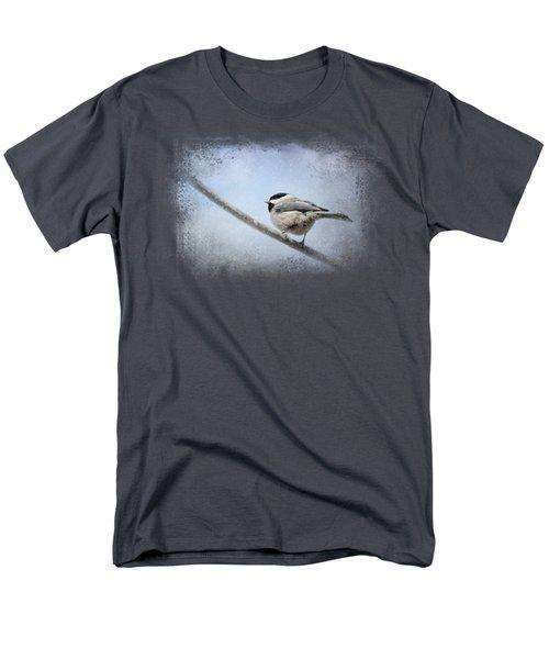 Chickadee In The Snow Men's T-Shirt  (Regular Fit) by Jai Johnson