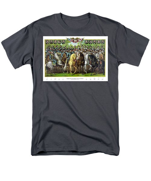 Civil War Generals and Statesman With Names T-Shirt by War Is Hell Store