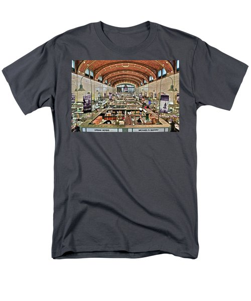 Classic Westside Market Men's T-Shirt  (Regular Fit) by Frozen in Time Fine Art Photography