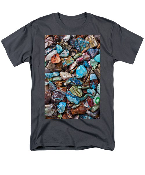 Colored Polished Stones T-Shirt by Garry Gay