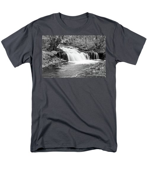 Creek Merge Waterfall in Black and White T-Shirt by James BO  Insogna