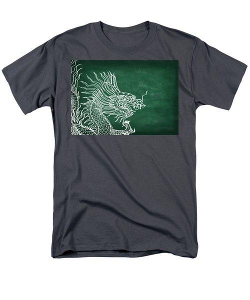 dragon on chalkboard T-Shirt by Setsiri Silapasuwanchai