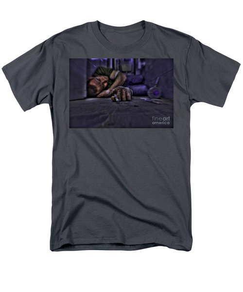 Drug addict shooting up T-Shirt by Guy Viner