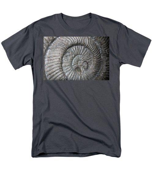 Fossil Spiral  Men's T-Shirt  (Regular Fit) by LeeAnn McLaneGoetz McLaneGoetzStudioLLCcom