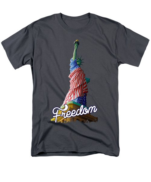 Freedom Men's T-Shirt  (Regular Fit) by Anthony Mwangi