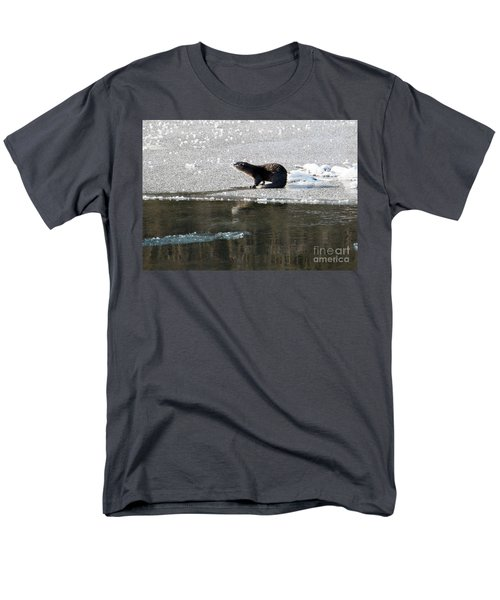 Frosty River Otter  Men's T-Shirt  (Regular Fit) by Mike Dawson