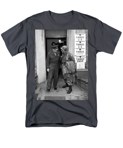 General Eisenhower and General Ridgway  T-Shirt by War Is Hell Store