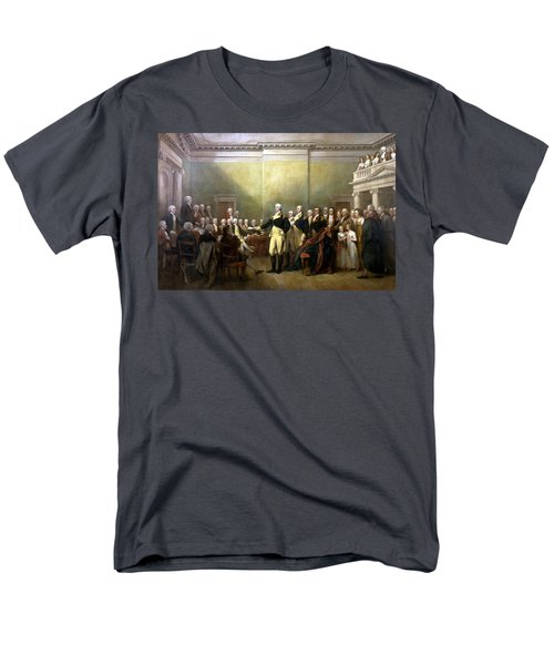 General Washington Resigning His Commission Men's T-Shirt  (Regular Fit) by War Is Hell Store