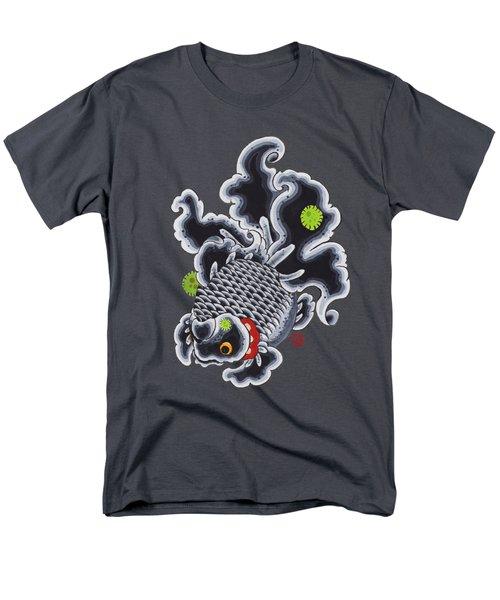 Goldfish Black Men's T-Shirt  (Regular Fit) by Shih Chang Yang