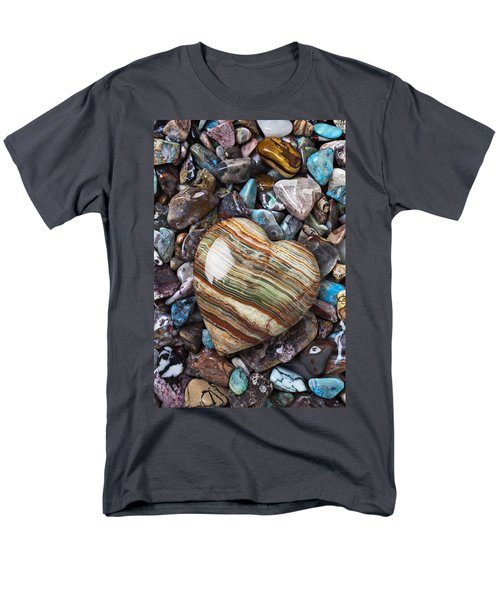 Heart Stone T-Shirt by Garry Gay