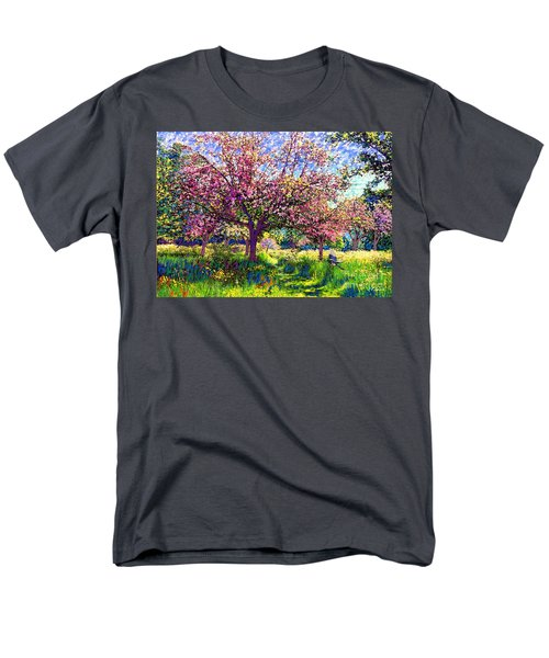 In Love With Spring, Blossom Trees Men's T-Shirt  (Regular Fit) by Jane Small
