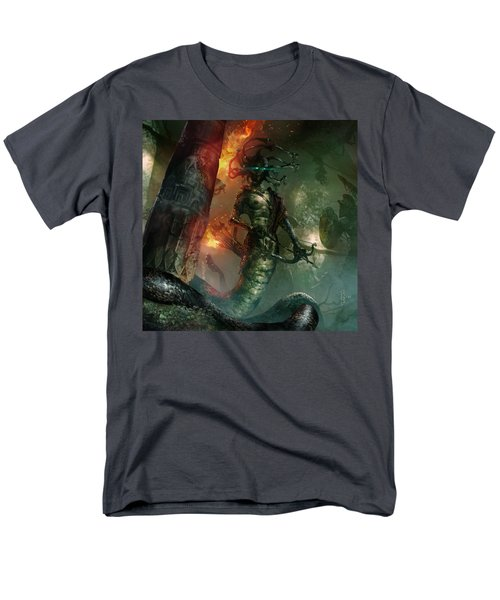 In The Lair Of The Gorgon Men's T-Shirt  (Regular Fit) by Ryan Barger
