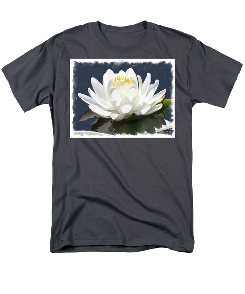 Large Water Lily with White Border T-Shirt by Carol Groenen