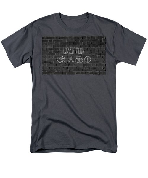 Led Zeppelin Brick Wall Men's T-Shirt  (Regular Fit) by Dan Sproul