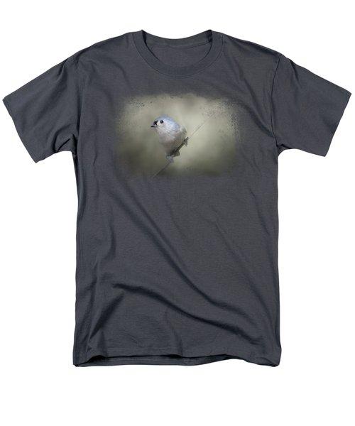Little Tufted Titmouse Men's T-Shirt  (Regular Fit) by Jai Johnson