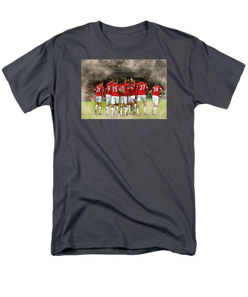 Manchester United  In Action  Men's T-Shirt  (Regular Fit) by Don Kuing