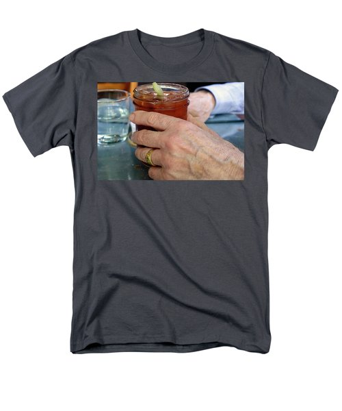 Mans Hand Holding Bloody Mary  Men's T-Shirt  (Regular Fit) by Beth Wolff