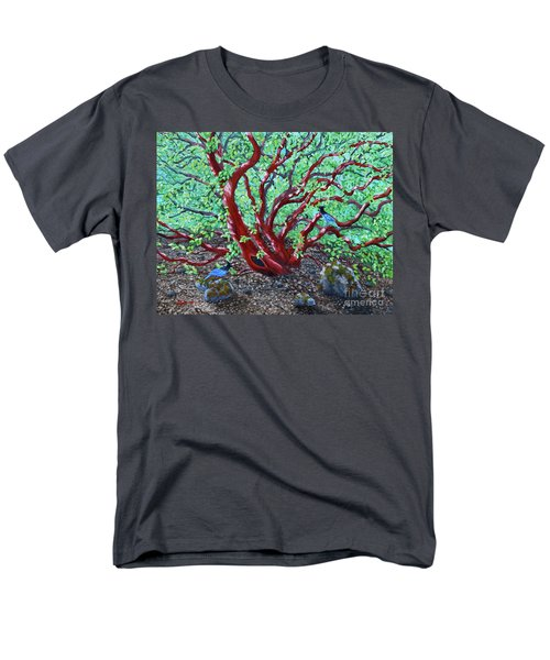 Morning Manzanita Men's T-Shirt  (Regular Fit) by Laura Iverson