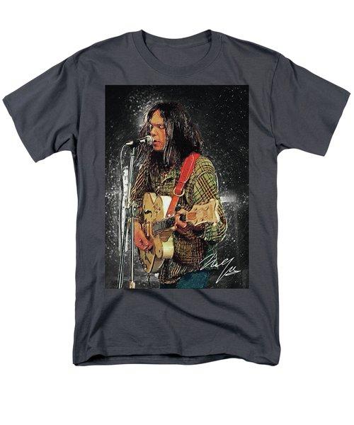 Neil Young Men's T-Shirt  (Regular Fit) by Taylan Apukovska