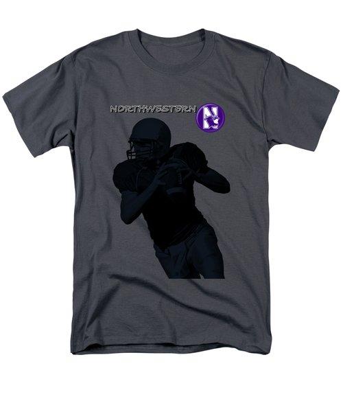 Northwestern Football Men's T-Shirt  (Regular Fit) by David Dehner