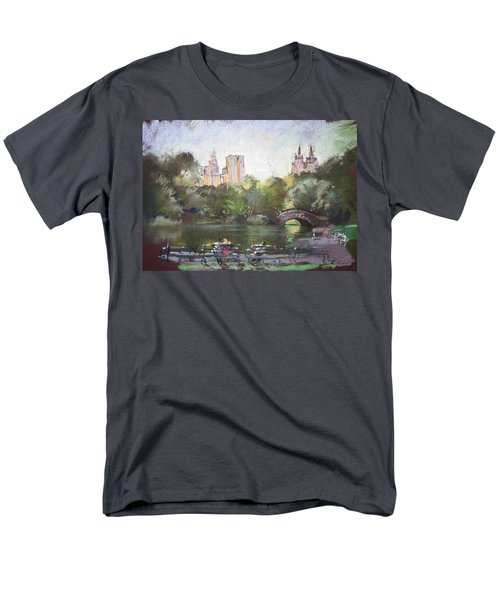 NYC Resting in Central Park T-Shirt by Ylli Haruni