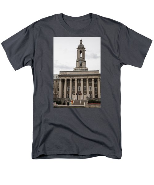 Old Main Penn State From Front  Men's T-Shirt  (Regular Fit) by John McGraw