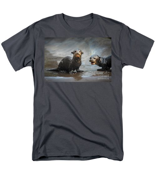 Otter Pup Pair Men's T-Shirt  (Regular Fit) by Jamie Pham