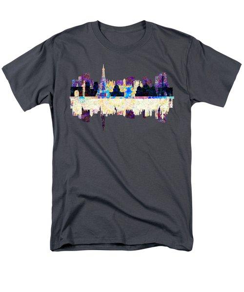 Paris France Fantasy Skyline Men's T-Shirt  (Regular Fit) by John Groves