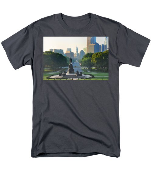 Philadelphia Benjamin Franklin Parkway T-Shirt by Bill Cannon