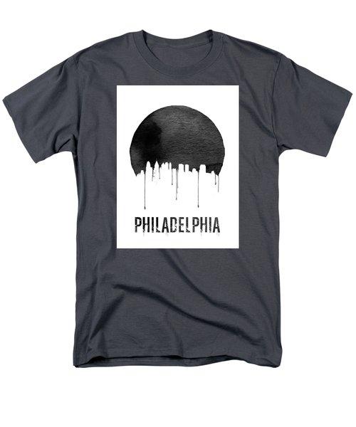 Philadelphia Skyline White Men's T-Shirt  (Regular Fit) by Naxart Studio