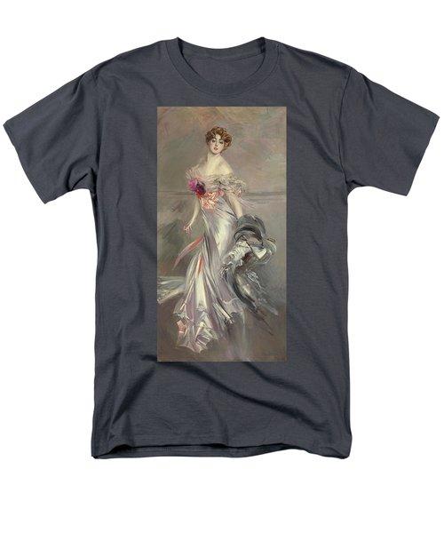 Portrait Of Marthe Regnier Men's T-Shirt  (Regular Fit) by Giovanni Boldini