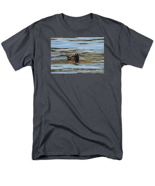 Puffin Reflected Men's T-Shirt  (Regular Fit) by Mike Dawson