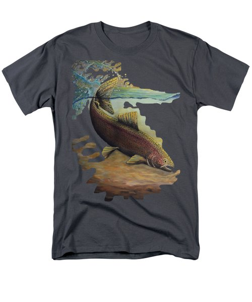 Rainbow Trout Trans Men's T-Shirt  (Regular Fit) by Kimberly Benedict