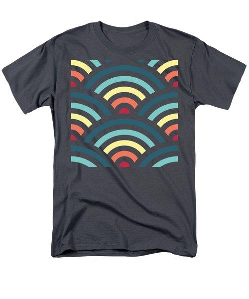 Rainbowaves Pattern Dark Men's T-Shirt  (Regular Fit) by Freshinkstain