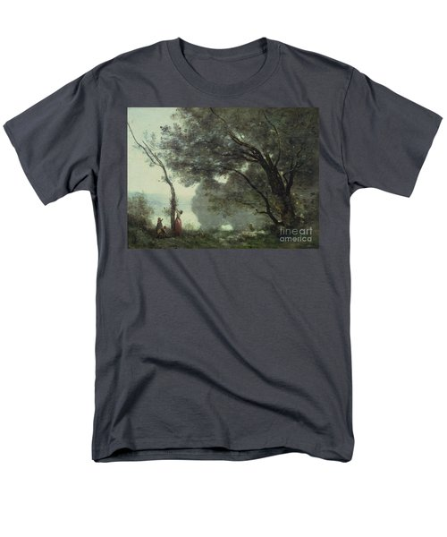 Recollections Of Mortefontaine Men's T-Shirt  (Regular Fit) by Jean Baptiste Corot